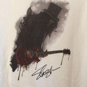 Slash & Guitar Size XL all cotton graphic tee NWOT